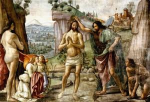 Крещение Христа - Доменико   ГИРЛАНДАЙО