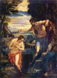Якопо Тинторетто - Крещение Христа