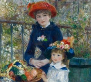 """"""" На террасе """" или  """" Две сестры """", 1881"""