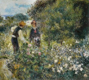 Собирание цветов ,  1875