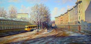 Яузский бульвар . Трамвайчик