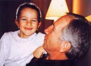 Савелий Крамаров с дочкой