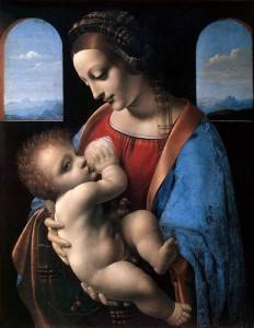 """Да Винчи  """" Дева Мария с Младенцем """""""