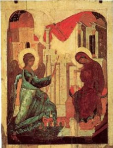 Благовещение Пресвятой Богородицы Андрей Рублев , Даниил Черный , 1408 год