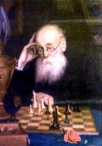 Портрет шахматиста А . Д . Петрова