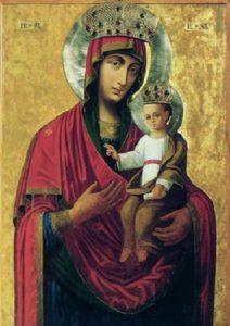 Ильинская ( Черниговская ) икона Божией Матери