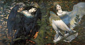 Сирин и Алконост . Птица радости и Птица печали