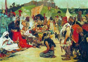 Торг в стане  восточных славян
