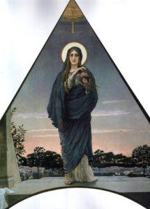Мария Магдалина . Эскиз мозаики церкви Марии Магдалины  в Дармштадте
